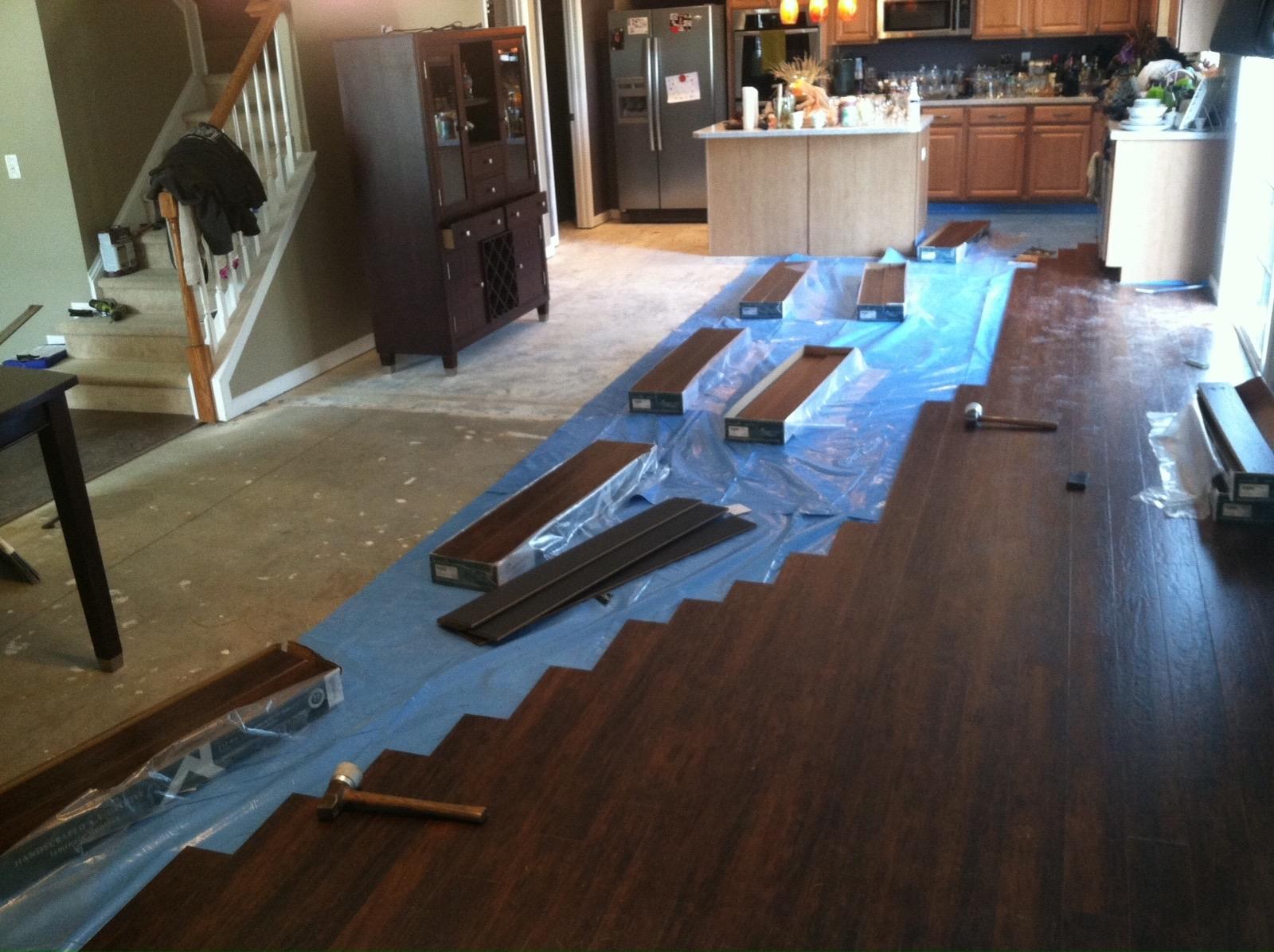 Vapor Barrier On Concrete Slab, Water Barrier For Laminate Flooring